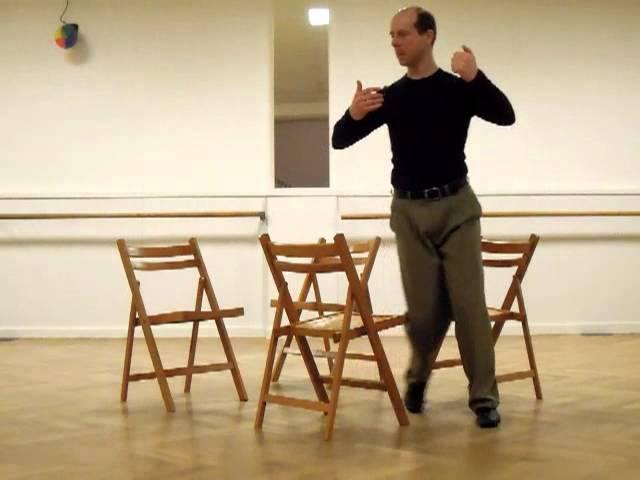 Molinete con cuatro sillas a derecha, cambio 180° en segunda apertura