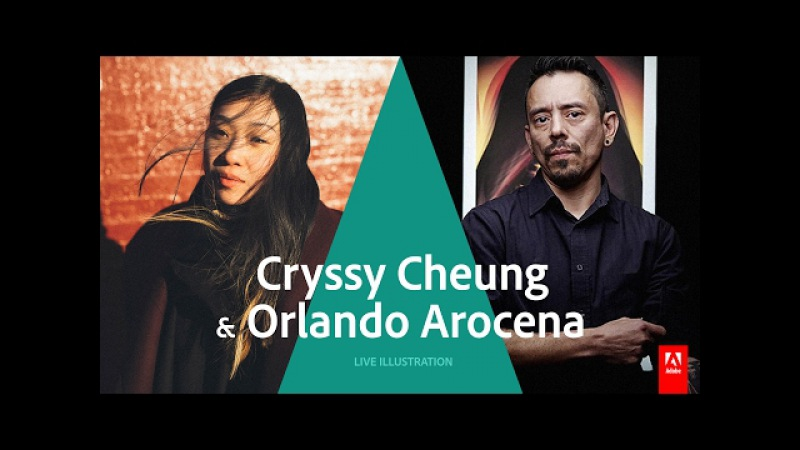 Live Illustrator with Cryssy Cheung Orlando Arocena - AdobeLive