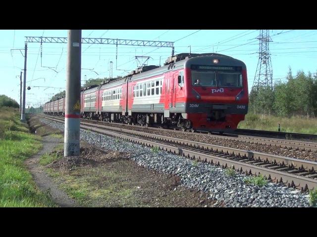 Электропоезд ЭД4М-0429 (0430) на перегоне Ступино-Жилево, Леонид лео
