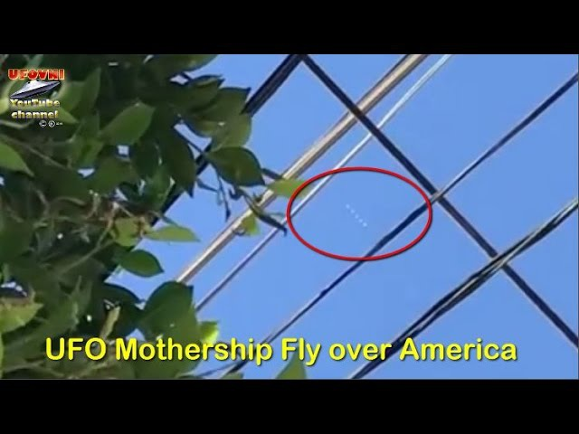 UFO Mothership Fly over America 11 S 2016