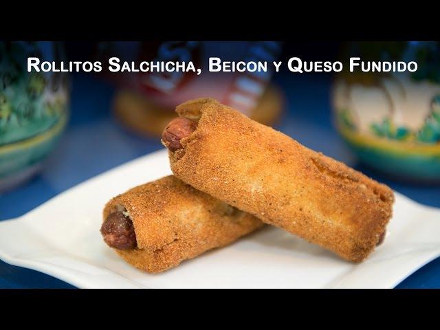 Rollitos Salchicha Beicon y Queso Fundido o DeLuxe Hot Dog Roll Ups
