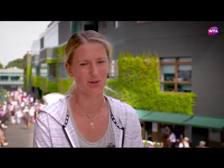"""""""the most important thing is to have fun and enjoy the ride.""""  @vika7 happy to be back #wimbledon"""