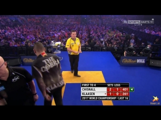 Dave Chisnall v Jelle Klaasen (PDC World Darts Championship 2017 / Round 3)