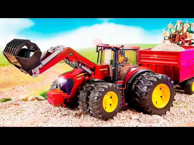 Traktor Pracowity Traktor i Praca na Farmie Bajki dla dzieci 2017 Maszyny rolnicze w Miasto
