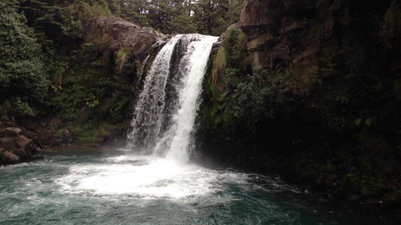 Водопад Tawhai Falls Tongariro national park НЗ 09 03 2017