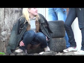 Скрытое наблюдения за девушками на улице #11