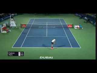 Roger Federer - Two amazing shots against Paire [HD]