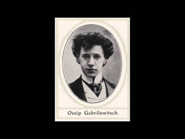 Ossip Gabrilowitsch Chopin Marche Funebre from Sonata Op 35 in B flat minor