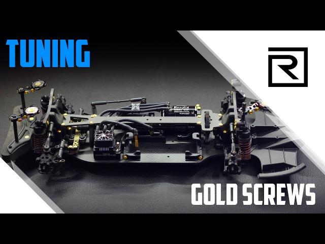 Installation of Gold Screws Установка золотых винтов на Yokomo YD 4MR