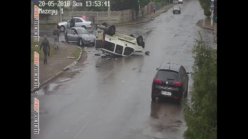 ДТП с участием трех автомобилей в Коломые на Ивано Франковщине