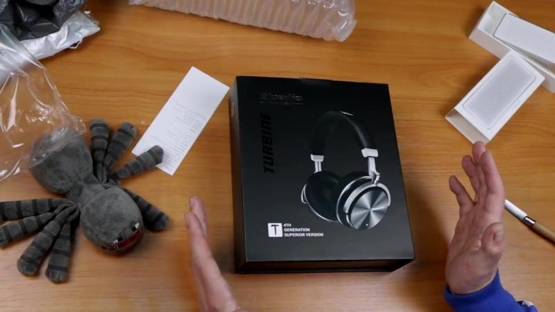 Беспроводные наушники Bluedio T4S и крутая колонка Xiaomi Speaker Square Box 2