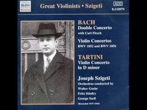 Bach Violin concerto in D minor BWV 1052 Restored Szigeti 3rd mov