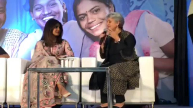 Priyanka Chopra talks about Beti Bachao Beti Padhao campaign at Unicef India office, Delhi