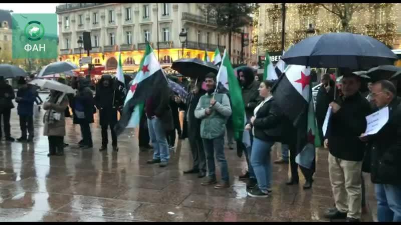 В Париже прошел постановочный митинг против властей Сирии