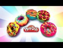 Dolls Food Making Play Doh Yummy Donuts How to make Toy Food out of Dough DIY Art Craft for Kids
