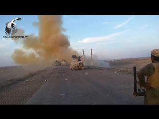 Two very close isis ied explosions are filmed by iraqi soldiers in anbar