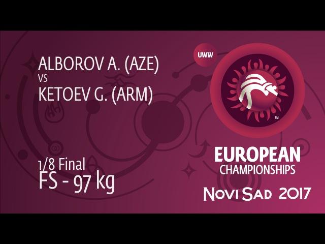 1/8 FS - 97 kg: A. ALBOROV (AZE) df. G. KETOEV (ARM) by TF, 11-1