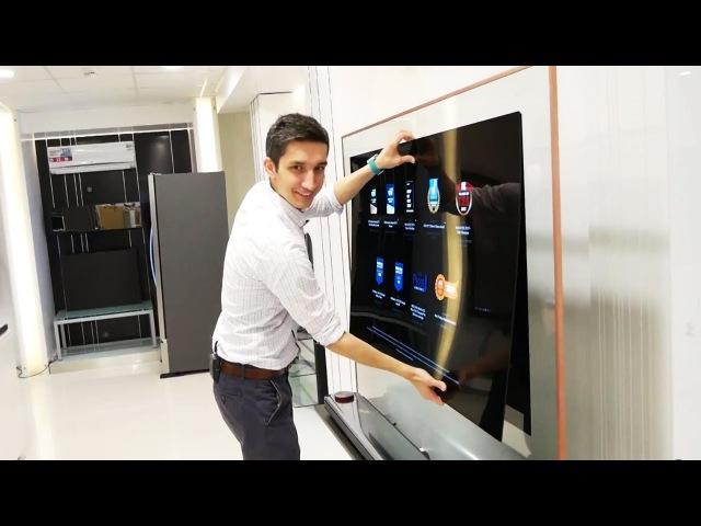 Отклеиваем от стены телевизор обои LG OLED W