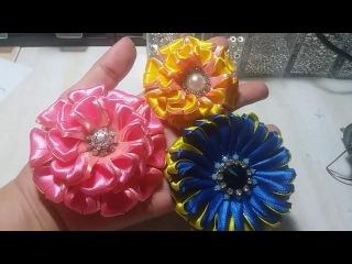 21) Tutorial Lovely Zinnia / Kanzashi flower