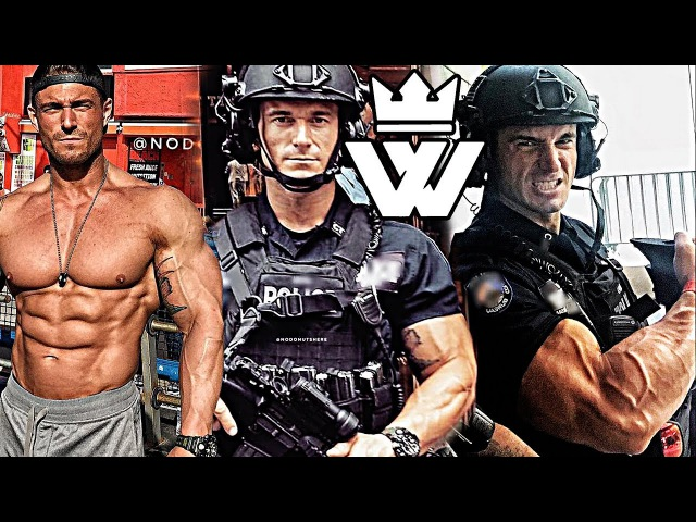 STRONG MUSCLE POLICE Michael Counihan Policeman Workout