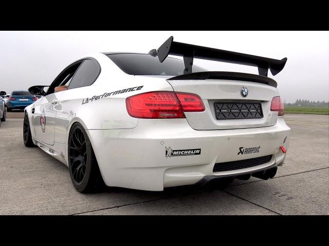 580HP BMW M3 E92 V8 - BRUTAL REVS DRAG RACE!