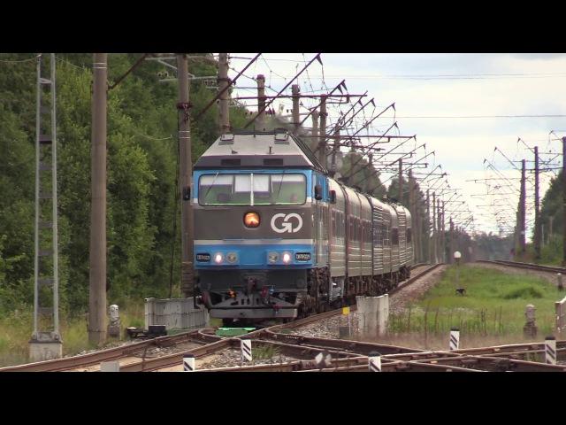 Тепловоз ТЭП70 0229 на ст Лагеди TEP70 0229 at Lagedi station
