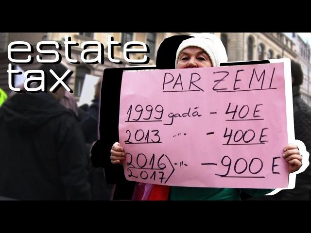 The protest against exorbitant taxes in Riga