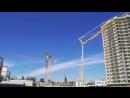 Еще одна весточка из Новоросса. Кружащиеся от ветра строительные краны