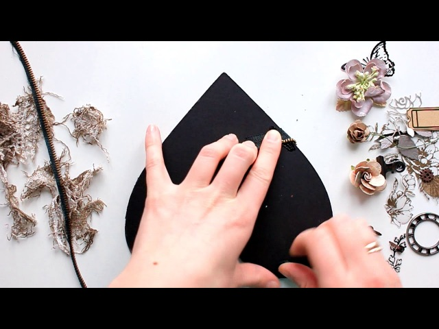 ScanNCut Mixed Media Art Tutorial by Elena Morgun