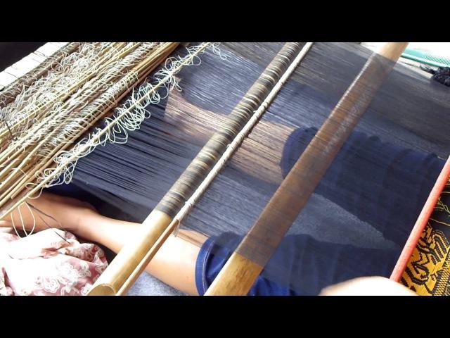 Songket Backstrap Weaving in Sidemen Bali INDONESIA by Ni Nengah Sukri