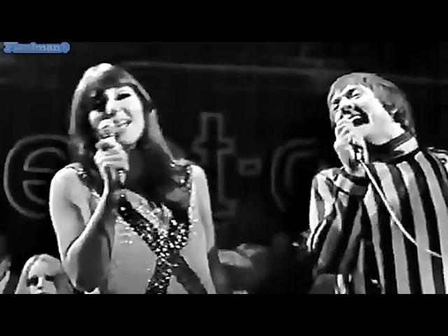 ♫ Sonny Cher ♪ Little Man Live On Beat Club 1966 ♫ Video Audio Restored