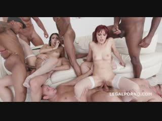 Gio774 dominica phoenix, lilly hall dap, interracial, anal, asslicking, rimming, gape, a2m, lingerie