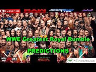 WWE Greatest Royal Rumble 50 Man Greatest Royal Rumble Match Predictions WWE 2K18
