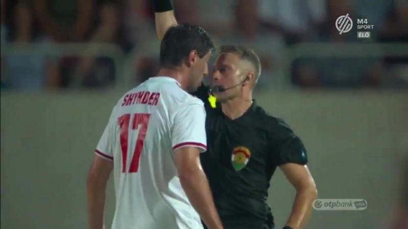 Антон Шиндер дискваліфікований на 4 місяці за поштовх арбітра в матчі чемпіонату Угорщини