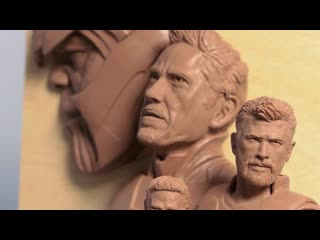 One day sculpts bruce banner and ant-man timelapse