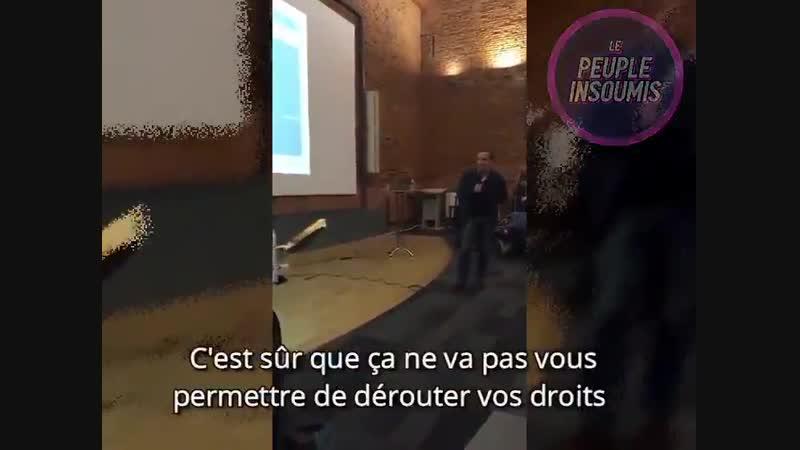 Le d put Adrien Taquet enfarin à Toulouse ! Les membres d une association d handicap s ont jet de la farine et du ketchup