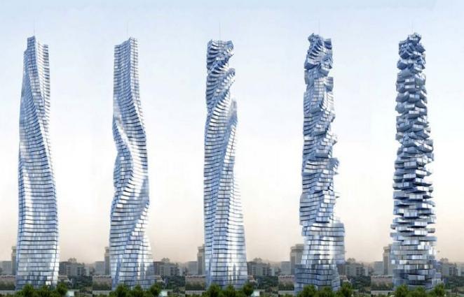 Первый в мире танцующий небоскреб