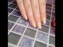 Наращивание ногтей акрил с покрытием гель лак и дизайн ногтей