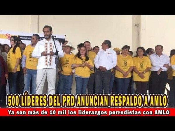 Ya son más de 10 mil los liderazgos perredistas que se han sumado a López Obrador