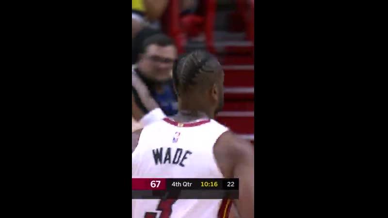 Вы знаете, кто будет вести за собой Хит в четвертой четверти ⚡️ ️NBANews NBA Heat DwyaneWade
