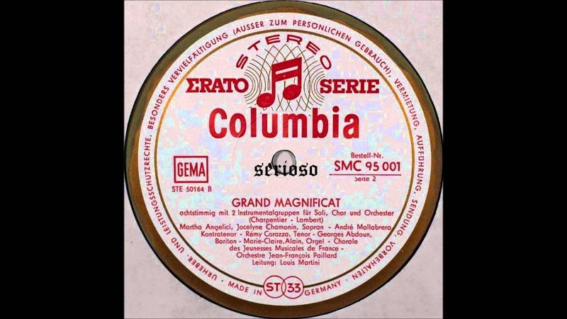 Charpentier,Grand Magnificat, Louis Martini
