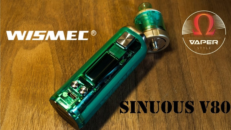 Wismec SINUOUS V80 with Amor NSE | Продолжение CB-80.