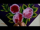 One Stroke Rose Painting Acrylic Painting Technique