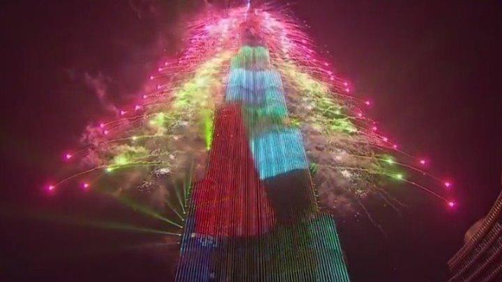 Дубай Новый год салют 2019