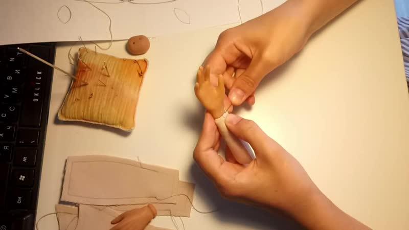 Текстильно шарнирные куклы руки ноги шарниры