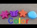 Learn Colors for Children sand molds Finger Family Song Nursery Rhymes/Учим цвета с детьми