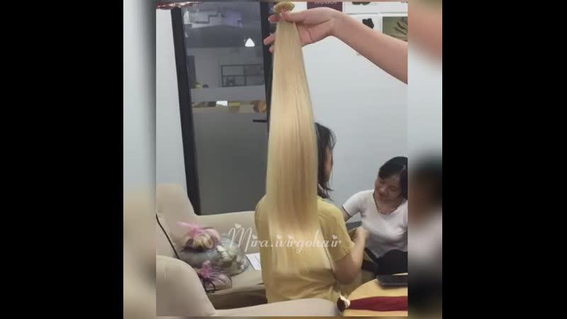 60 cm blonde color flattip