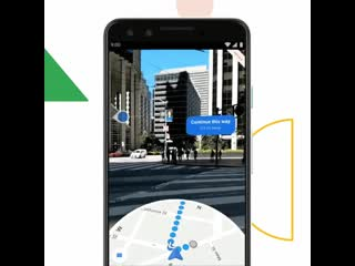 Google Maps meets AR. - - Rolling out to Pixel phones, starting today. io19