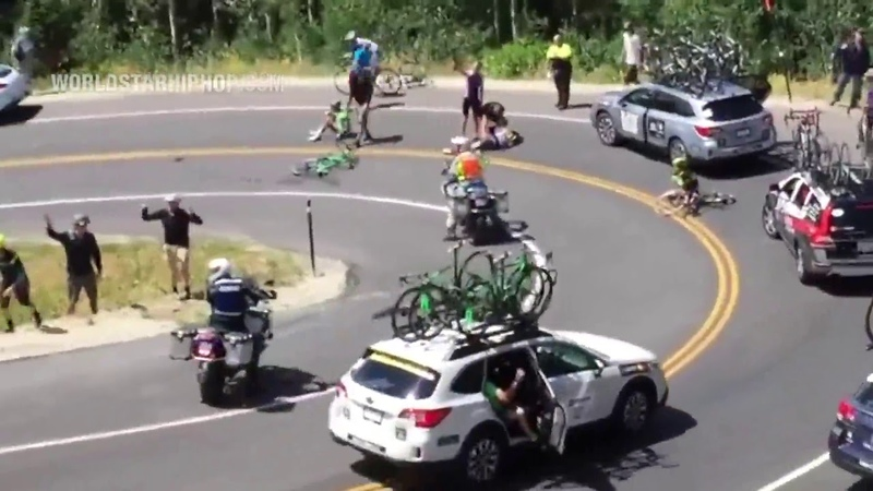 Sheesh Cyclist Suffers A punctured lung After Slamming Straight Into A Car