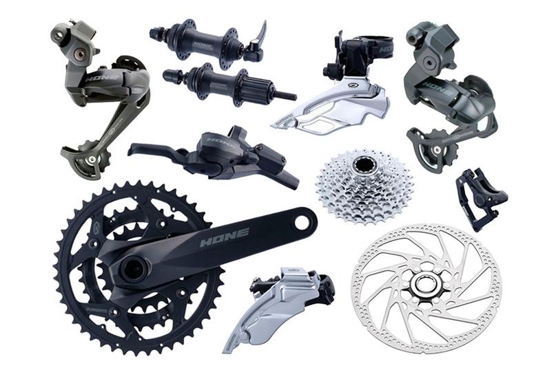 Hone (9 звезд) - оборудование для велосипедов, предназначенных для экстремального применения (производилось до 2008 года). Задний переключатель крепился непосредственно к задней оси колеса.